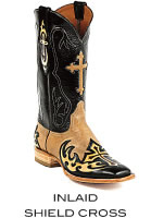 Inlaid Shield Cross Boots