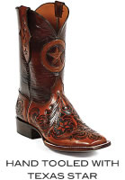 Hand Tooled With Texas Star Boots